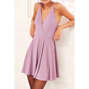 Kimchi blue mini dress strappy back lavender